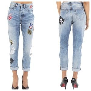 NWOT patched jeans